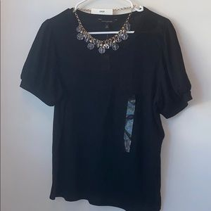 NWT Banana Republic black short sleeve top